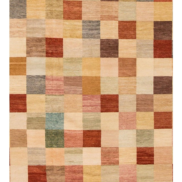 Apadana - Modern Oversize Multicolored Geometric Indian Gabbeh Rug, 10.06x15.06 For Sale - Image 4 of 11