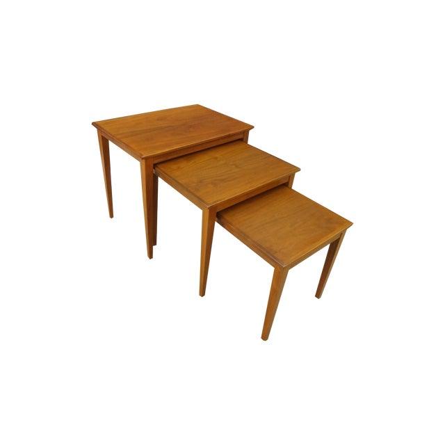 Danish Modern Teak Nesting Tables - Image 1 of 6