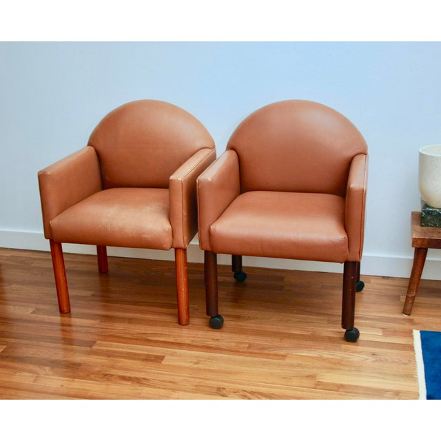 Postmodern Leather Chairs, Set of 2 For Sale - Image 11 of 11