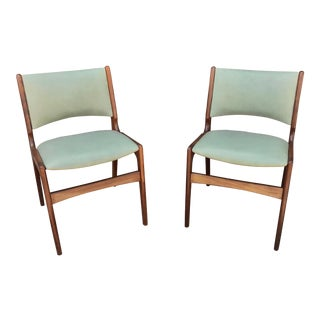 Mid Century Modern Teak Model 89 Chairs by Erik Buch - a Pair For Sale