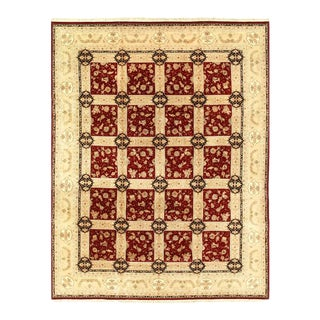 "Pasargad Red Persian Hand Knotted Tabriz Design Rug- 12' X 15'4"" For Sale"