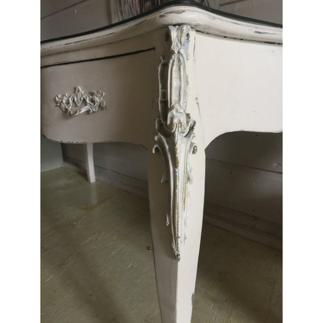 Stunning desk that is grand in scale and high in style! Pulled from a New Orleans mansion in the garden district during...