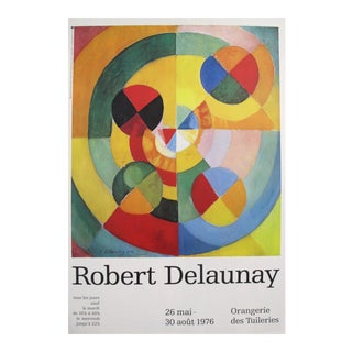 1976 Original French Exhibition Poster, Robert Delaunay, Orangerie Des Tuileries For Sale