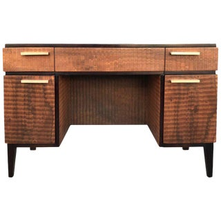 Donald Deskey for Amodec Art Deco Desk With Exotic Wood Finish For Sale