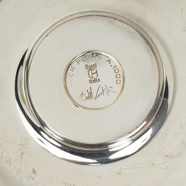"""Achille Castiglioni Achille Castiglioni Silver Plated """"Spirale"""" Ashtray for Bacci, 1971 For Sale - Image 4 of 5"""