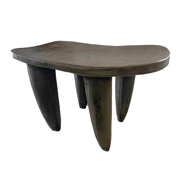 Superb Solid hand carved of one piece of wood stool/table by the Senufo Cote D'ivoire Senufo stools are never figural but...