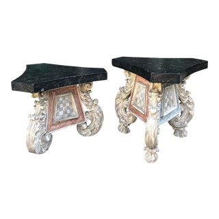 Antique 18c Carved Venetian Side Tables - a Pair For Sale