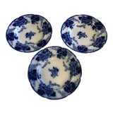 Image of Vintage Cauldon Flow Blue Bowls - Set of 3 For Sale