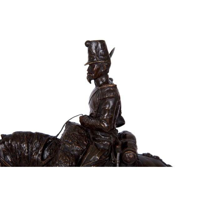 Antique French Bronze Sculpture of a Soldier on Horseback by Emmanuel Fremiet For Sale - Image 11 of 13