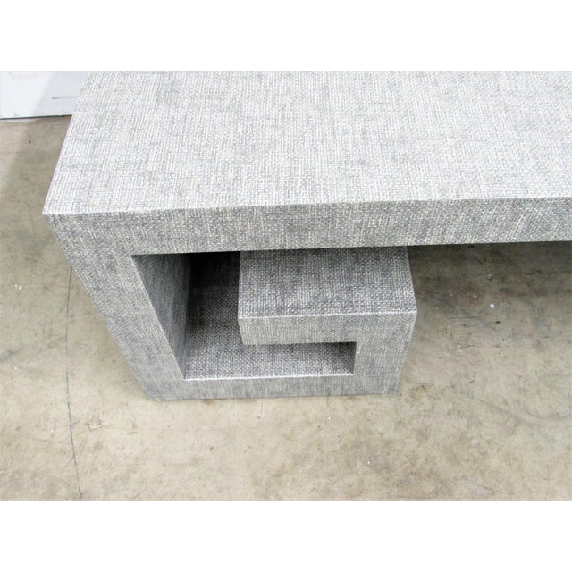 Maple Jansen Manner Handcrafted High End Coffee Table with Greek Key Base For Sale - Image 7 of 10