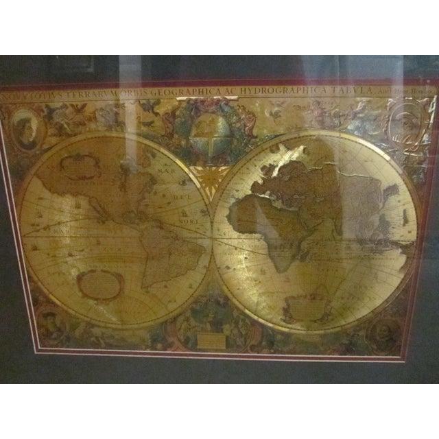 Framed gold foil green matted renaissance world map chairish framed gold foil green matted renaissance world map image 9 of 11 gumiabroncs Images
