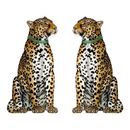 Pair of Leopards, Free-Standing Decorative Objects For Sale