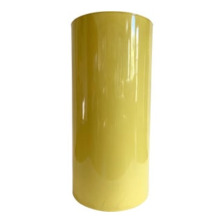 Yellow Modern Round Steel Pedestal For Sale