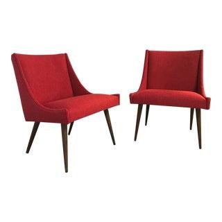 Milo Baughman for Thayer Coggin Slipper Lounge Chairs - A Pair