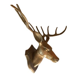 Brass Deer Trophy For Sale