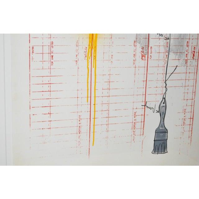 "Circa 1971 ""Coca Cola"" Signed Color Lithograph By Jasper Johns - Image 4 of 9"