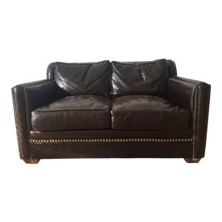 Horchow Leather Sleeper Loveseat