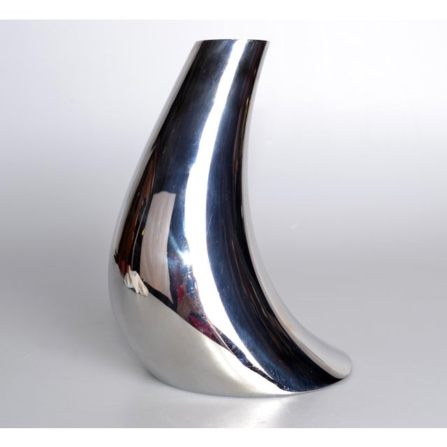 Georg Jensen Cobra Vase Stainless Steel For Sale In Miami - Image 6 of 8