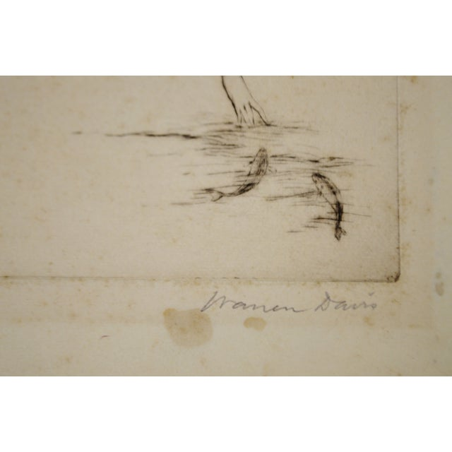 Early Warren B. Davis Pencil Signed Etching - Image 4 of 6
