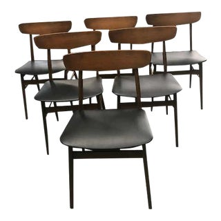 Mid-Century Modern Scandinavian Dining Chairs- Set of 6 For Sale