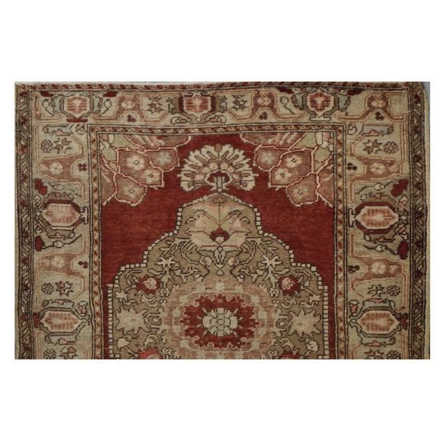 Turkish Vintage Turkish Oushak Rug - 3.8 x 11.4 For Sale - Image 3 of 3