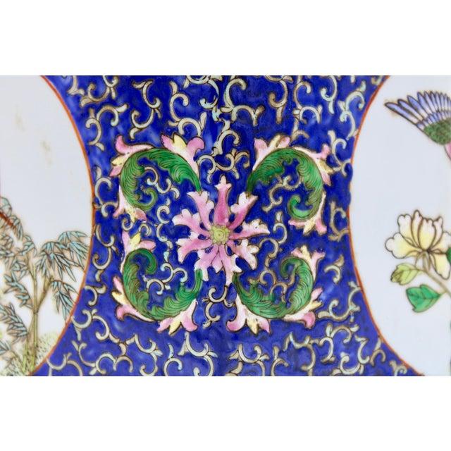 Large Antique Chinese Enamel Ceramic Vase For Sale - Image 12 of 13