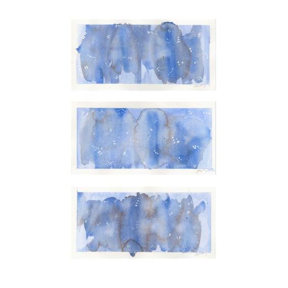 "Original ""Amethyst"" Watercolor Paintings - Set of 3 - Image 2 of 5"
