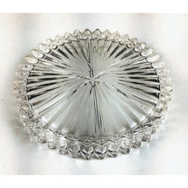 Glass Mid Century Cut Glass Drink Coasters - Set of 5 For Sale - Image 7 of 8