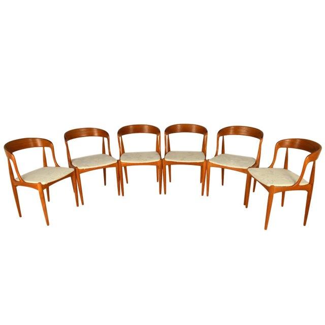 Johannes Andersen Teak Dining Chairs- Set of 6 - Image 2 of 6