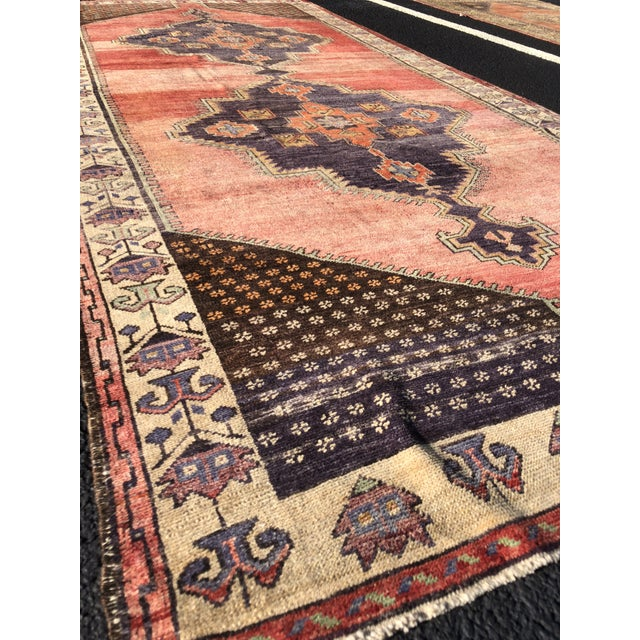 "Antique Turkish Oushak Runner - 5'1"" x 11'5"" - Image 4 of 12"