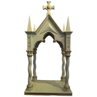 Antique Wooden Alter Piece For Sale