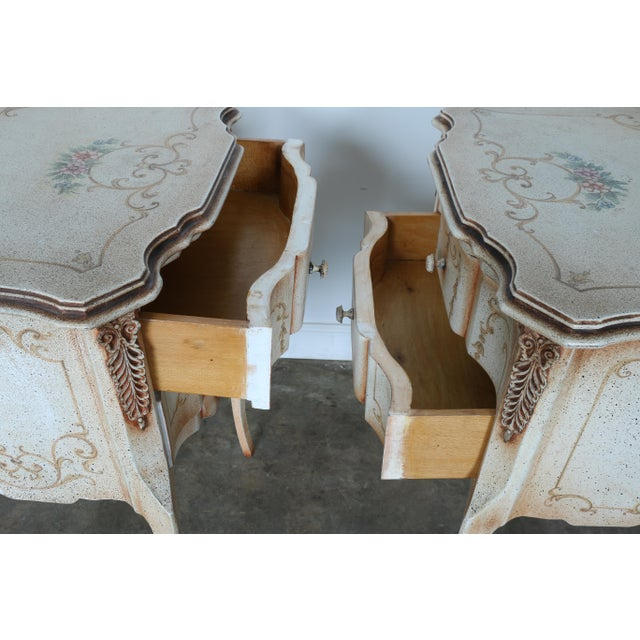 French Style Nightstands - A Pair - Image 10 of 11