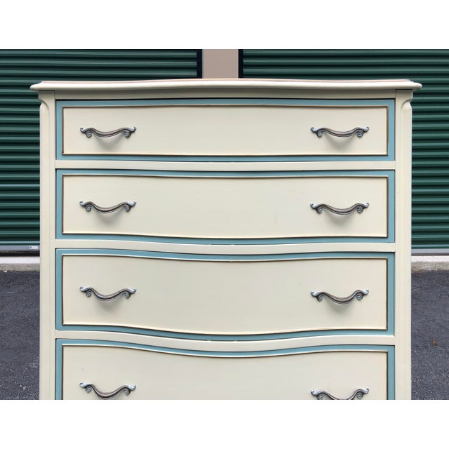 French Provincial White French Provincial Drexel Tall Dresser For Sale - Image 3 of 11