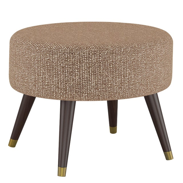 Spritely Home Oval Ottoman in Solitude Spice For Sale - Image 4 of 5