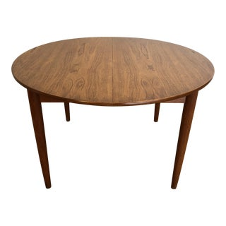Teak Round Expandable Dining Table