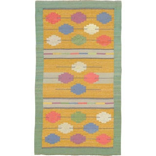 Swedish Flat Weave Rug- 4′1″ × 7′4″ For Sale