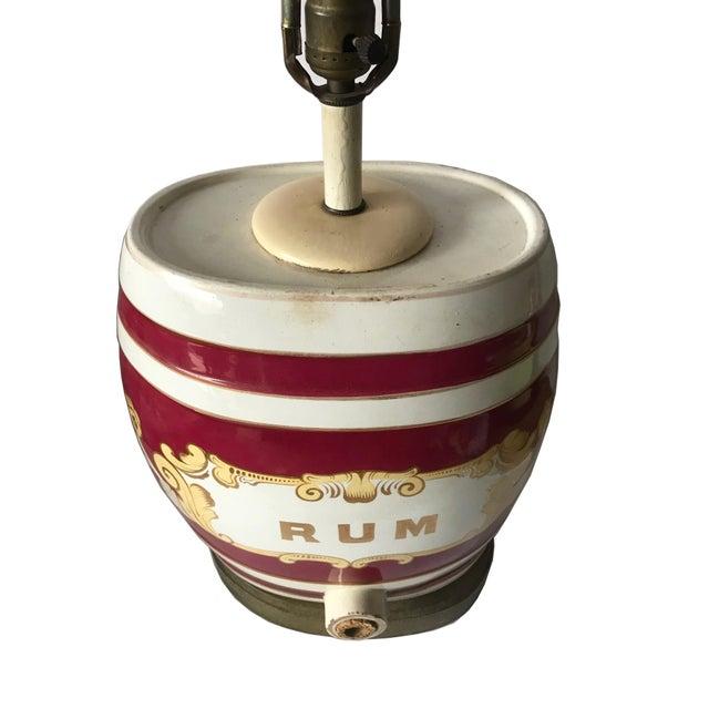 Antique English Rum Barrel Lamp For Sale - Image 4 of 8