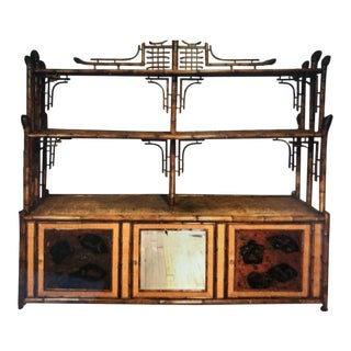 Edwardian Bamboo & Lacquer Cabinet For Sale