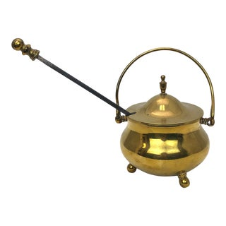 Traditional Brass Fire Starter Melting Pot For Sale