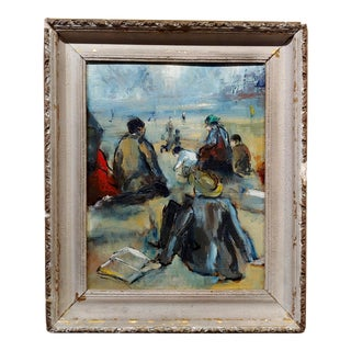 Gladys MacCabe - a Day at the Shore - Irish Oil Painting For Sale