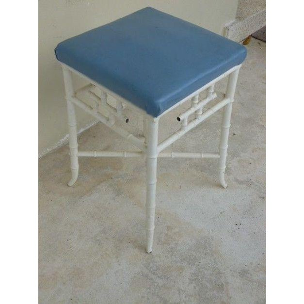 Asian 1970s Chinese Chippendale Metal Stool For Sale - Image 3 of 6