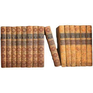 19th Century Volumes of the Works of G.P.R Leather-Bound Book - Set of 15