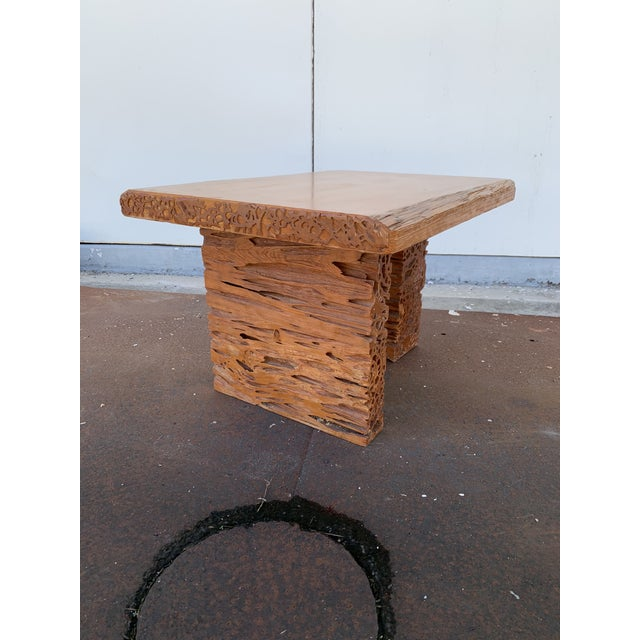 Studio Craft Pecky Cypress Table For Sale - Image 4 of 11