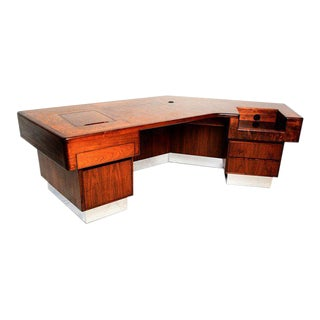 Mid-Century Modern Monteverdi & Young Executive Desk by Maurice Bailey For Sale