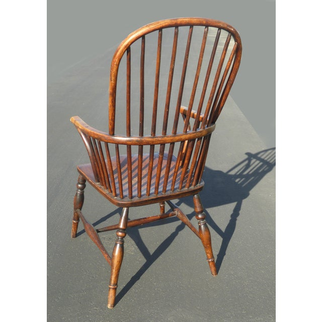 Fabulous Early American Sack Back Windsor Accent Chair Andrewgaddart Wooden Chair Designs For Living Room Andrewgaddartcom