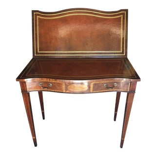 Mahogany Flip Top Game Table For Sale