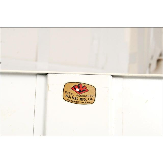 Mid-Century Enamel Top Metal Storage Cabinet - Image 8 of 11