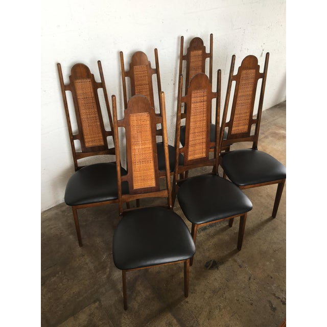 Set Of 6 Dining Chairs: Mid-Century High Back Dining Chairs - Set Of 6