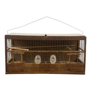 Vintage Pine Birdcage For Sale