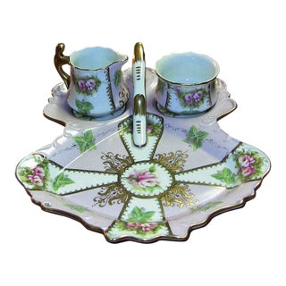 19c Sevres Porcelain High Tea Set and Tray For Sale